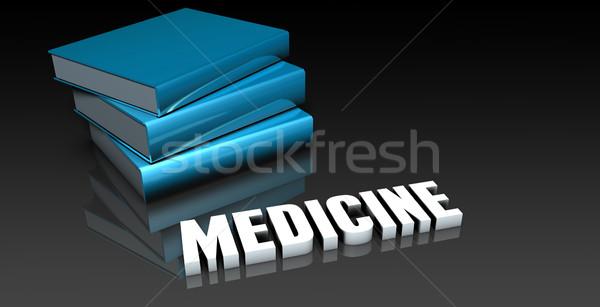 Gyógyszer osztály iskola oktatás könyv könyvek Stock fotó © kentoh