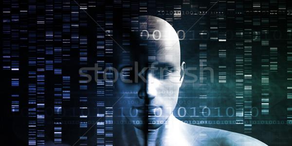 генетический модификация науки промышленности искусства фон Сток-фото © kentoh