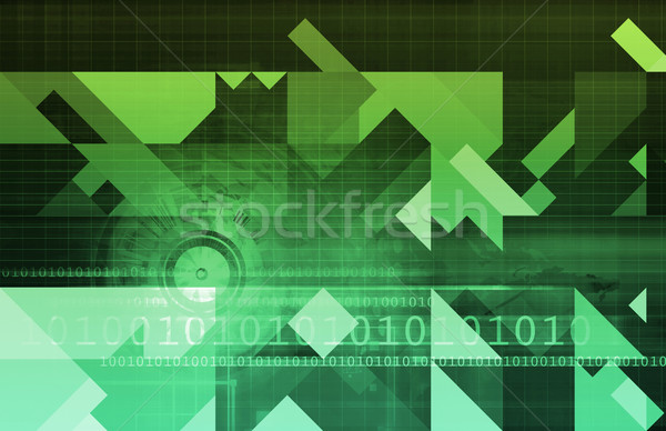 Binary Technology Stream Stock photo © kentoh