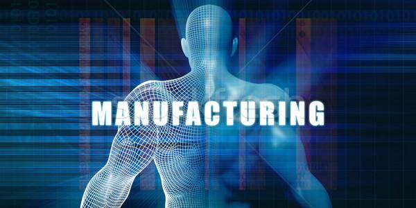 Fabricación futurista resumen tecnología Foto stock © kentoh