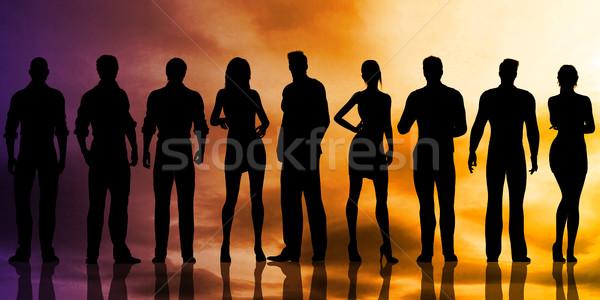 человека ресурсы отдел идеальный кандидат корпоративного Сток-фото © kentoh