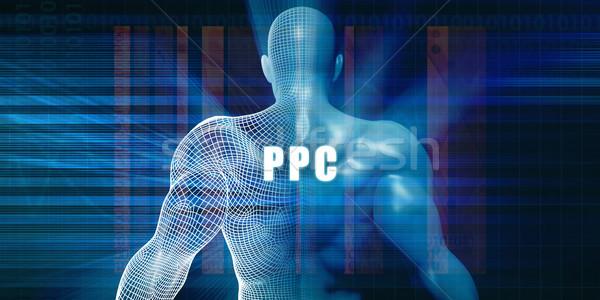 Ppc futurisztikus absztrakt technológia Stock fotó © kentoh