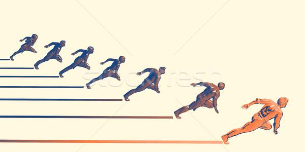 Agresywny działalności firmy wzrostu streszczenie tle Zdjęcia stock © kentoh