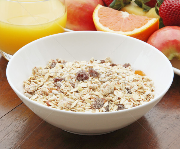 Egészséges reggeli zsírszegény müzli gyümölcs egészség Stock fotó © kentoh
