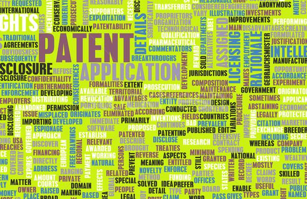 Patent uygulama fikri mülkiyet sanat soyut eğitim Stok fotoğraf © kentoh