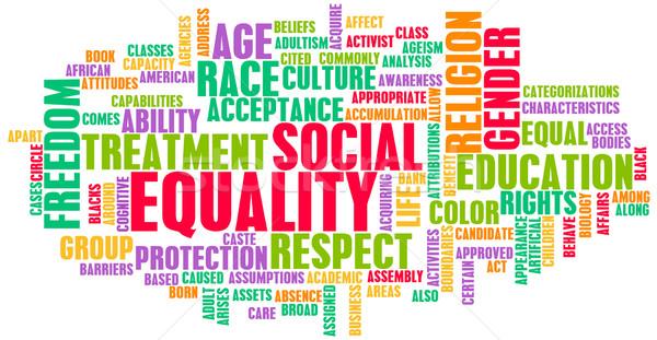 Társasági egyenlőség tisztelet verseny nem üzlet Stock fotó © kentoh