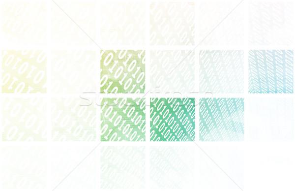 Stock photo: Binary Stream
