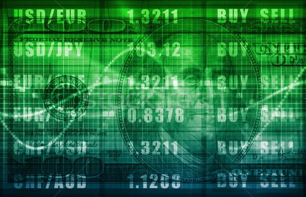 Extranjero intercambio línea comprar vender Screen Foto stock © kentoh