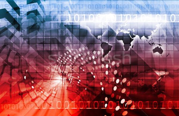Wereldwijde business internationale corporate textuur kaart achtergrond Stockfoto © kentoh