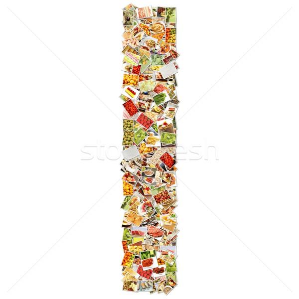 Letter i doopvont vorm alfabet collage business Stockfoto © kentoh