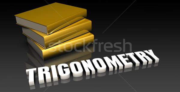 Trigonometria educação livros livro teia Foto stock © kentoh