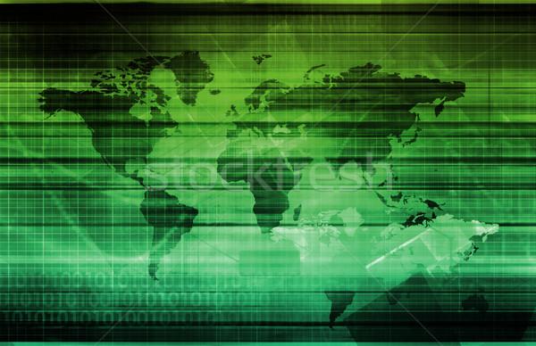 データ 統合 ネットワーク グローバル 規模 ビジネス ストックフォト © kentoh