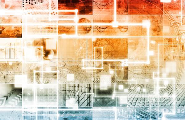 Business mobiliteit toegang technologie achtergrond netwerk Stockfoto © kentoh