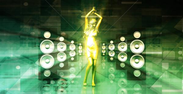 Senhora boate mulher música festa dançar Foto stock © kentoh