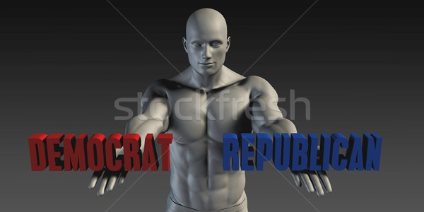 Democraat republikein keuze verschillend geloof partij Stockfoto © kentoh