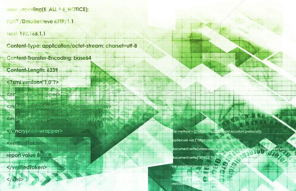 Dinamikus technológia modell hálózat tudomány erő Stock fotó © kentoh