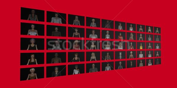 Social Circle Network Stock photo © kentoh