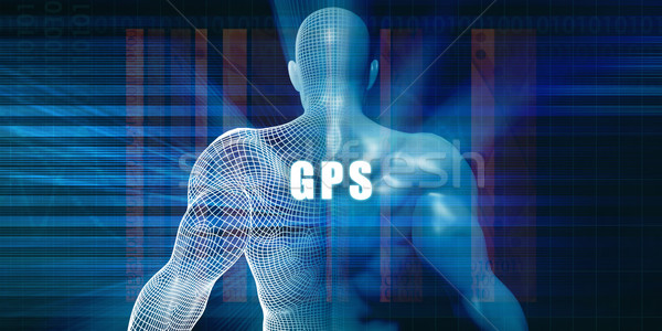 のGPS  未来的な 抽象的な ビジネス 技術 ビジネスマン ストックフォト © kentoh