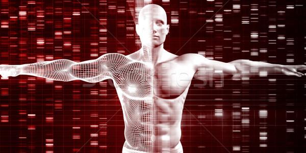 Genetik bilim veri sanayi insan DNA Stok fotoğraf © kentoh