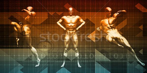 боевыми искусствами подготовки искусства мужчин борьбе Сток-фото © kentoh