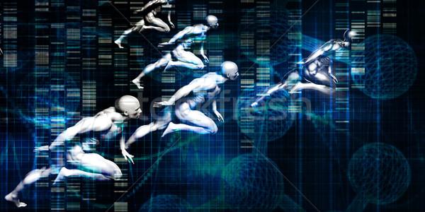 Salud investigación tecnología soluciones ordenador deporte Foto stock © kentoh