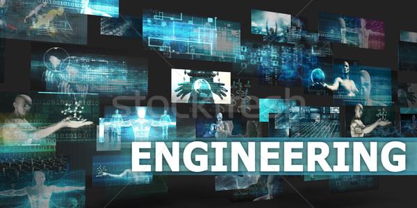 Ingegneria presentazione tecnologia abstract arte internet Foto d'archivio © kentoh
