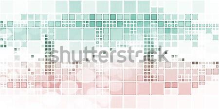 Megfigyelés biztonság technológia globális művészet háttér Stock fotó © kentoh