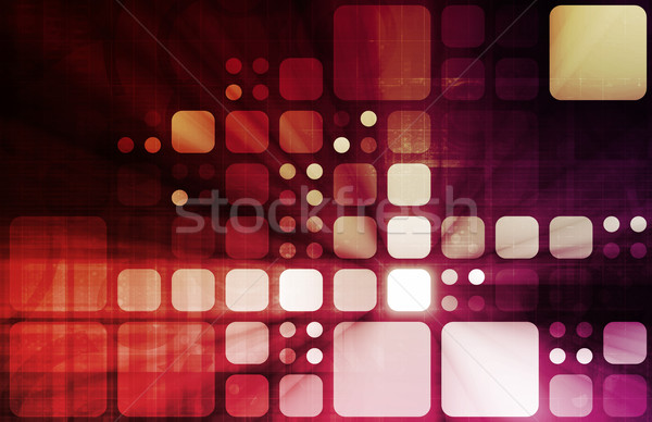 Medische technologie corporate onderzoek internet abstract Stockfoto © kentoh