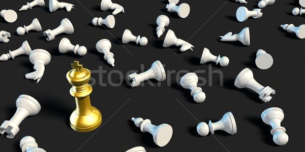 último homem em pé negócio xadrez estratégia Foto stock © kentoh