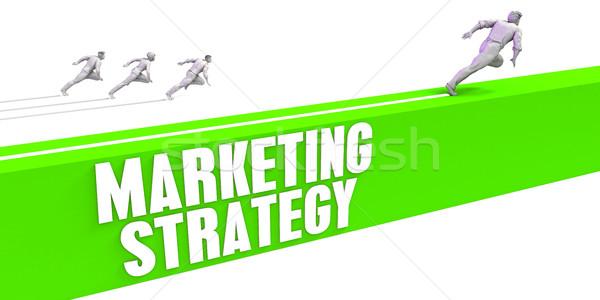 Estratégia de marketing rápido seguir luz fundo homens Foto stock © kentoh