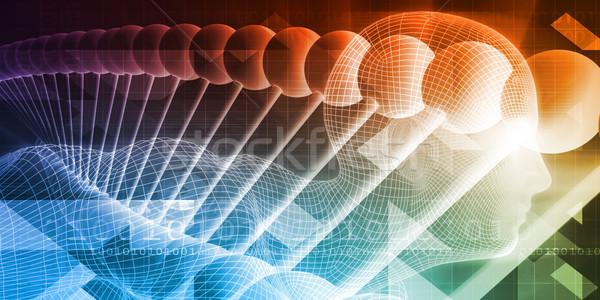 Badania naukowe anatomii technologii sztuki streszczenie nauki Zdjęcia stock © kentoh