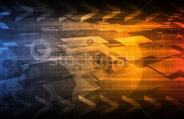 Technologie connectiviteit online web wereld bar Stockfoto © kentoh