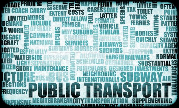 Openbaar vervoer trein bus dienst vervoer creatieve Stockfoto © kentoh