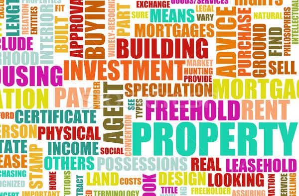 Propiedad inmobiliario edificio resumen fondo financiar Foto stock © kentoh
