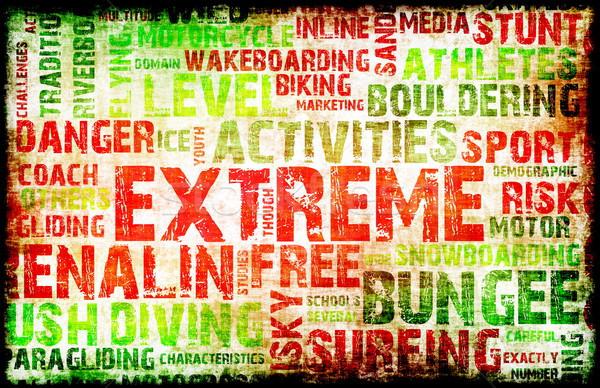Extreme спортивных Гранж дизайна фон молодежи Сток-фото © kentoh
