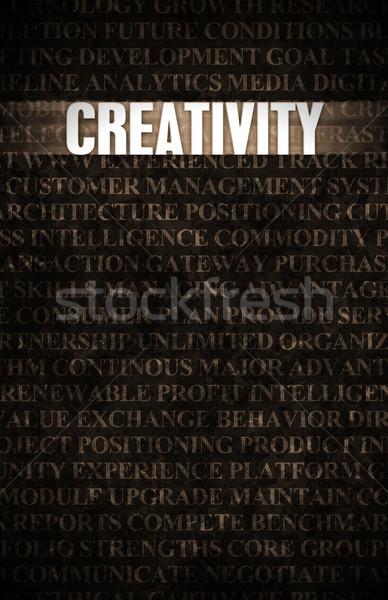 Creatividad negocios motivación muro de piedra pared industria Foto stock © kentoh