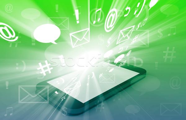 Smartphone Bursting with Content Stock photo © kentoh