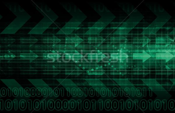Digitale signaal technologie abstract patroon kunst Stockfoto © kentoh