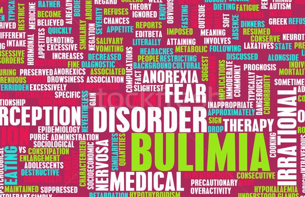 Boulimia medische diagnose achtergrond concept gezondheidszorg Stockfoto © kentoh