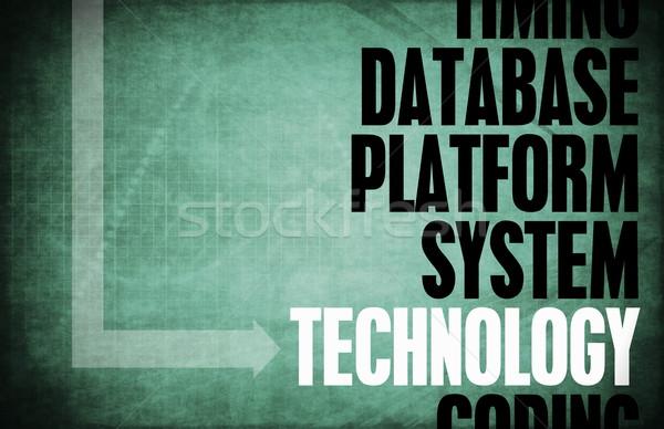 технологий ядро Принципы бизнеса синий ретро Сток-фото © kentoh