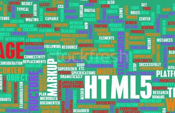 Html web ontwikkeling taal netwerk tech Stockfoto © kentoh