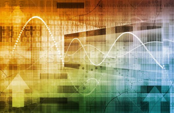 сеть роста Стрелки искусства компьютер Сток-фото © kentoh