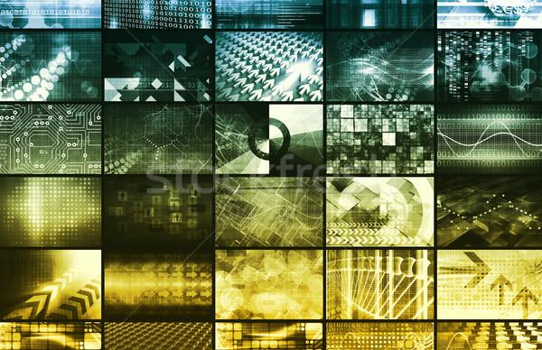 Branding marketing product 3D formaat achtergrond Stockfoto © kentoh