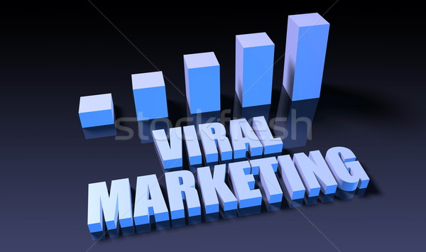 Viral marketing gráfico traçar 3D azul Foto stock © kentoh