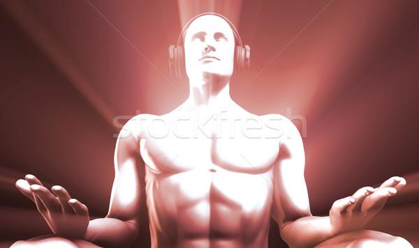 Ouvir música zen relaxar ajudar belo Foto stock © kentoh