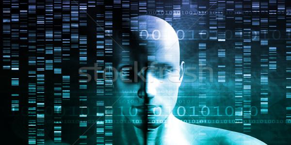 Medische onderzoek genetica dna wetenschap technologie Stockfoto © kentoh
