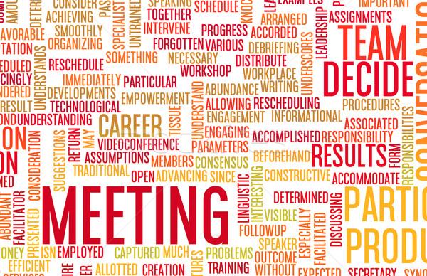 üzleti megbeszélés bemutató üzlet megbeszélés absztrakt párbeszéd Stock fotó © kentoh