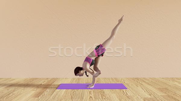 Yoga Class Fallen Angel Pose Stock photo © kentoh