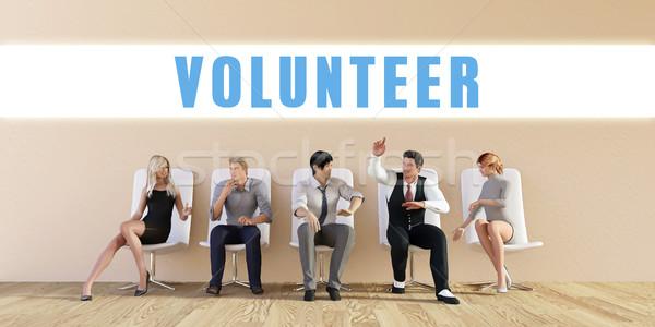 Iş gönüllü grup toplantı adam arka plan Stok fotoğraf © kentoh