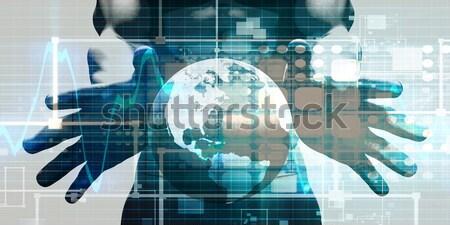 Mobile Advertising Stock photo © kentoh